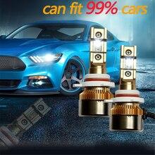 2PCS Mini H1 H11 H8 HB3 HB4 H4 H7 LED Canbus Decoder Auto Automobile Car Headlight Bulbs EMC No Error 50W 10000LM 6000K 12V