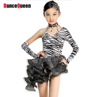 Dance Skirt Zebra Latin Dance Dress Children S XXL Girls Clothes New 2014 Rumba Dance Costumes