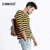 SIMWOOD 2019 Весна новая футболка Для мужчин футболка в бретонском стиле в полоску Футболки мужской высокое качество брендовая одежда плюс Разме...