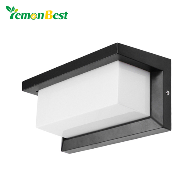 Lemonbest 15w outdoor lighting waterproof modern led wall lamps ip65 lemonbest 15w outdoor lighting waterproof modern led wall lamps ip65 aluminum courtyard garden corridor porch lights workwithnaturefo