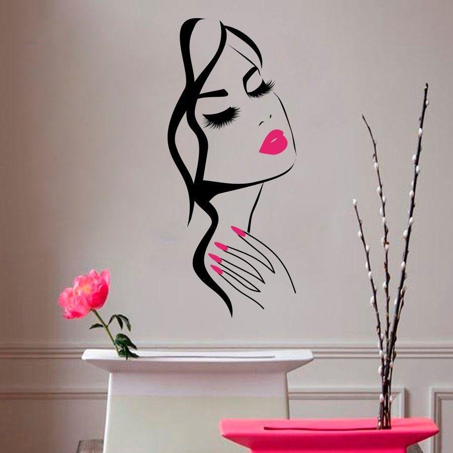Yoyoyu 40 цветов Книги по искусству виниловый стикер Красота магазин ногтей волос Съемный Наклейка на стену Спальня салон Настенный декор Книг...