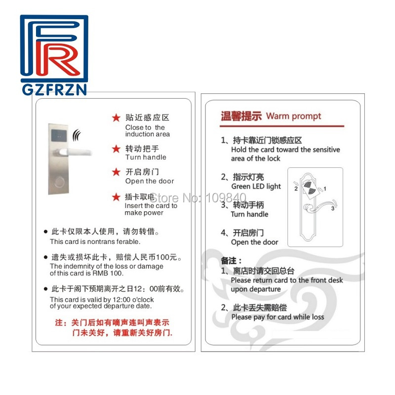 100pcs/lot Customized printed 13.56MHz RFID Card with FM11FR08 for Identification and Security