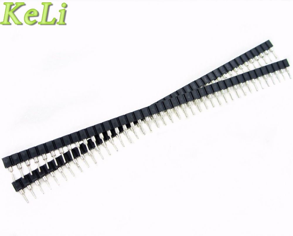 10pcs 1x40 Pin 2.54 Round Female & Male Pin Header