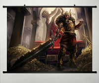 Wall Scroll Poster Fabric Painting For League Of Legends LOL Tryndamere 010