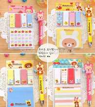 20pack/lot Cute rilakkuma styles Memo Notepad/sticky notes/Writing message note/Students gift prize/office school supplies