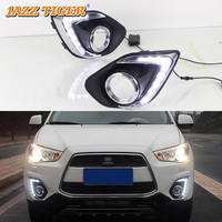 JAZZ TIGER 2PCS Yellow Turn Signal Function Car Driving Lamp DRL LED Daytime Running Light For Mitsubishi ASX RVR 2013 2014 2015