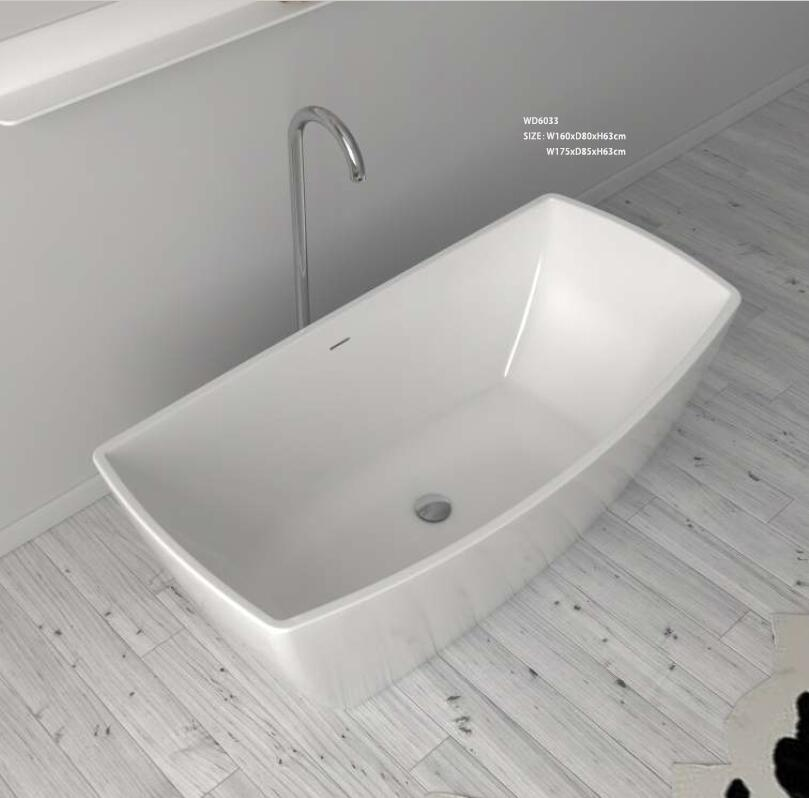 1750X850X630mm CUPC Approval Acrylic with Fiberglass Resin bathtub Freestanding Seamless Soaking Tub 6033