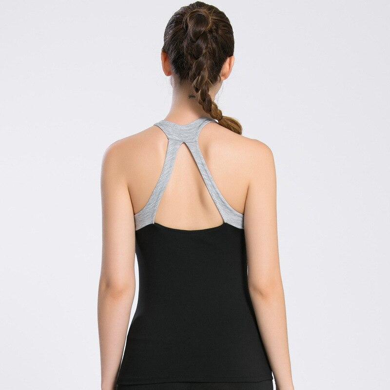 OVESPORT короткий топ Для женщин лоскутное полоса Фитнес удобные Йога Топ с Pad Activewear работает Центр дышащий Soprts рубашка