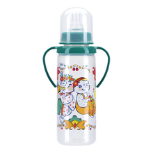 Бутылочка КУРНОСИКИ для кормления с ручками и силиконовой соской молочной, 250 мл