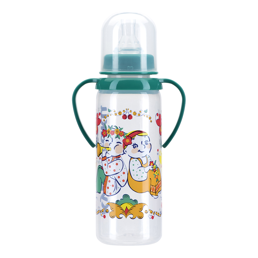 Bottles KURNOSIKI for girls and boys 11113 Bottle Feeding Cup Baby With straw plastic bottle 30ml pet clear bottle empty pet bottles e liquid e cig plastic dropper bottles with childproof cap