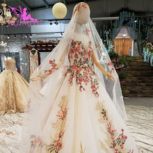 AIJINGYU Wedding Dress With Train Gown Wedding Dresses For