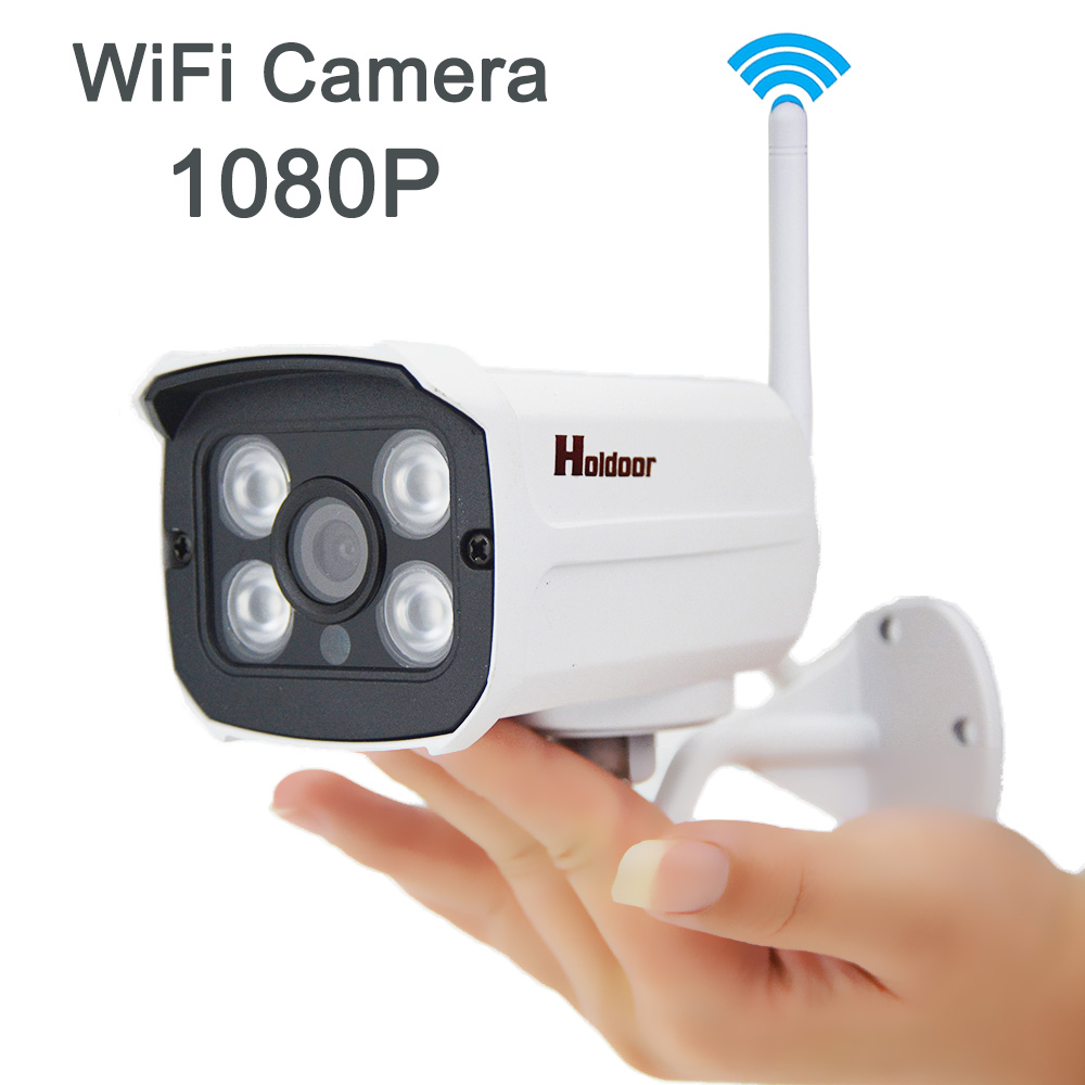 Wireless 1080P IP Network Camera Outdoor Webcam Camera Built in IR Cut P2P Night Vision wifi camera Support 64G Micro SD Card outdoor waterproof wireless ip camera 1080p wifi security network cam ir cut bullet cctv night vision ir support 64g sd card