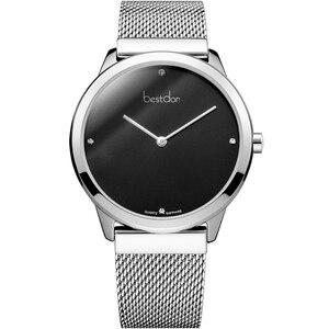 Image 5 - Bestdon montre Couple Sapphire Ultra fine, montre bracelet à Quartz minimaliste, étanche, horloge de luxe Valentine Gifr, pour les amoureux, tendance