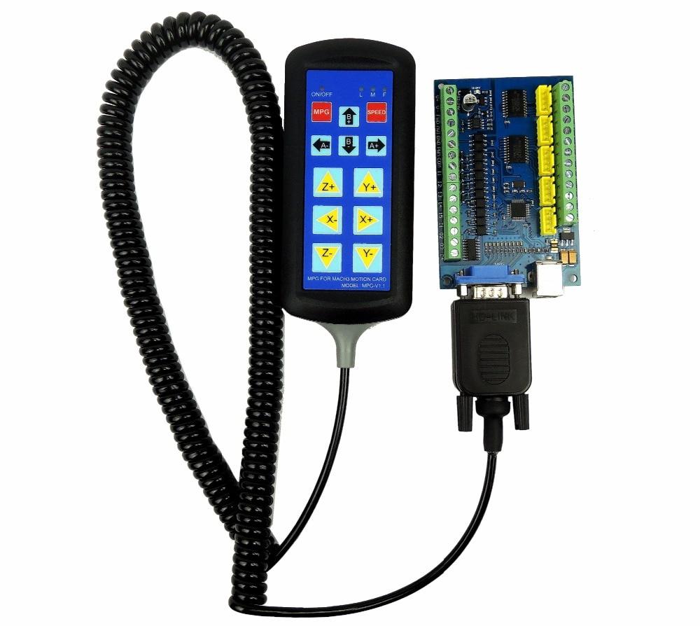 Mach3 usb 5 axis 100 khz usbcnc suave stepper placa de fuga do cartão controlador movimento + 1pcs punho (só pode usar para stb5100 cartão)