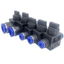 Raccords pneumatiques 2 voies rapides, tuyau en plastique, 4mm, 6mm, 8mm, 10mm, 12mm, amélioration