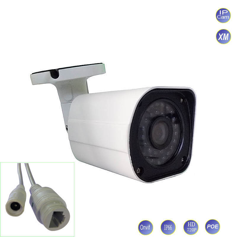 POE Network IP Camera 1.0MP 720P CMOS Family CCTV Surveillance Bullet Cam outdoor waterproof IR CUT Night Vision P2P ONVIF2.0 cctv waterproof outdoor poe camera cmos 1 3mp 960p bullet 2 8 3 6mm fixed lens video camera security surveillance ir cut