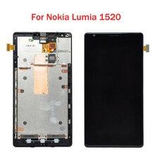 Хорошее Оригинальный Для Nokia Lumia 1520 ЖК-дисплей Дисплей с Сенсорный экран планшета в сборе с рамкой Бесплатная доставка