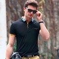 Плюс Размер Дышащий Классический Polo Рубашки Мужчины Сплошной Цвет Короткие рукав Поло Футболка Slim Fit Хлопок Топы Бренд Поло Мужской носить