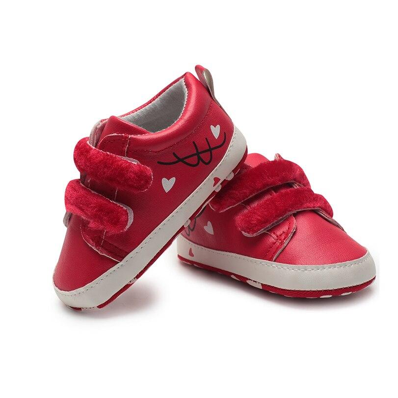 Baby boy girl crib shoes bebe pink shoes new born 0-18 months hoop loop moccasins babies cute Skid-Proof first steps footwear PU