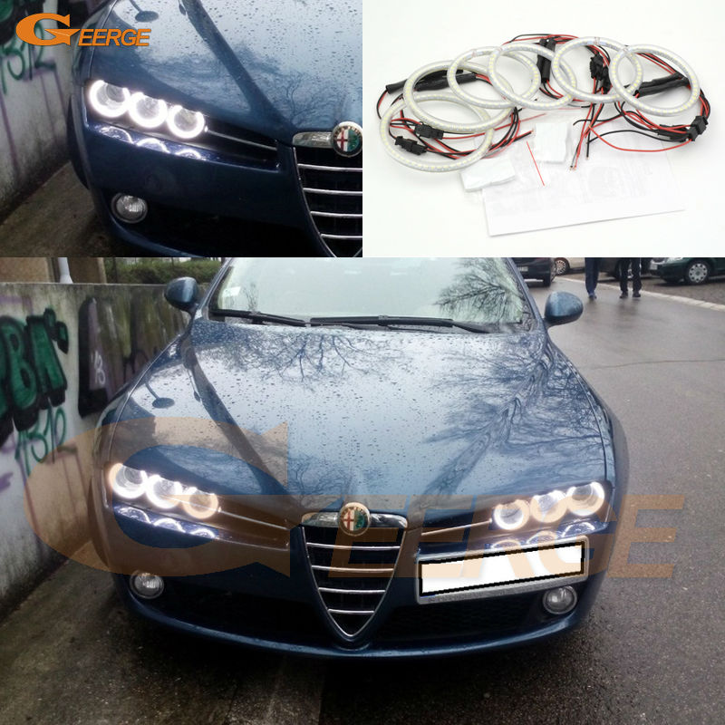 For Alfa Romeo Brera Spider 2005-2010 Excellent 6 pcs smd led Angel Eyes Super bright 3528 SMD led Angel Eyes bluetooth hands free adaptor car integrated usb aux jack interface for alfa romeo brera gt spider mito 147 156 159 giulietta