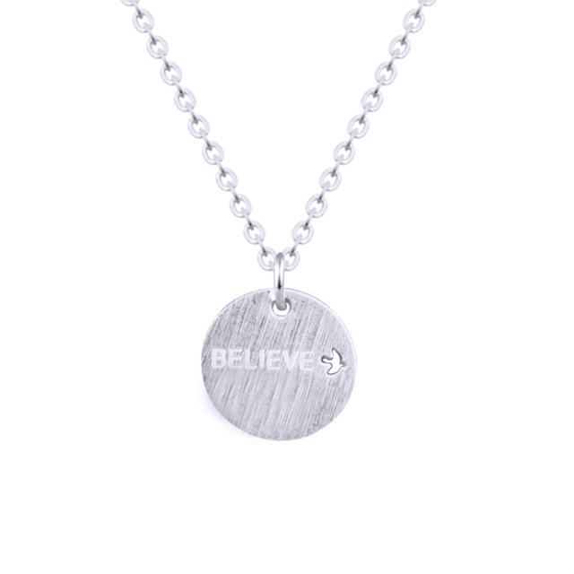 Bff gifts gold disc necklace women collares stainless steel chain bff gifts gold disc necklace women collares stainless steel chain engraved believe bird statement necklace best aloadofball Gallery