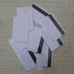 Image 4 - 5 шт/10 шт Белая пустая ПВХ Контактная смарт карта IC с 4442 чипом + магнитной полосой 3 треков HiCo