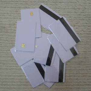 5pcs/10pcs PVC contact smart IC card with 4442 chip+magnetic stripe 3-tracks HiCo