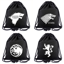 TV Series Game of Thrones Drawstring Backpack Cool Black Gravity Falls Anime Casual Bag Harry Potter Portable Bag for Gift