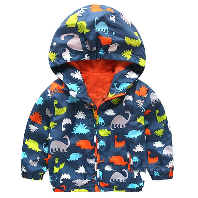 Boys girl hoodies sweatshirts Jackets Cartoon Print Jurassic World dinosaur Monster Animal baby toddler tops kids zipper Clothes