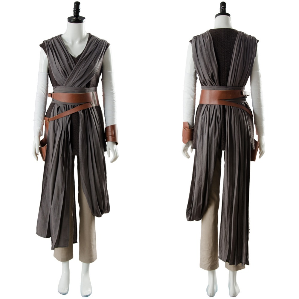 Star Wars 8 The Last Jedi Rey Ver 2 Cosplay Costume Outfit Full Sets