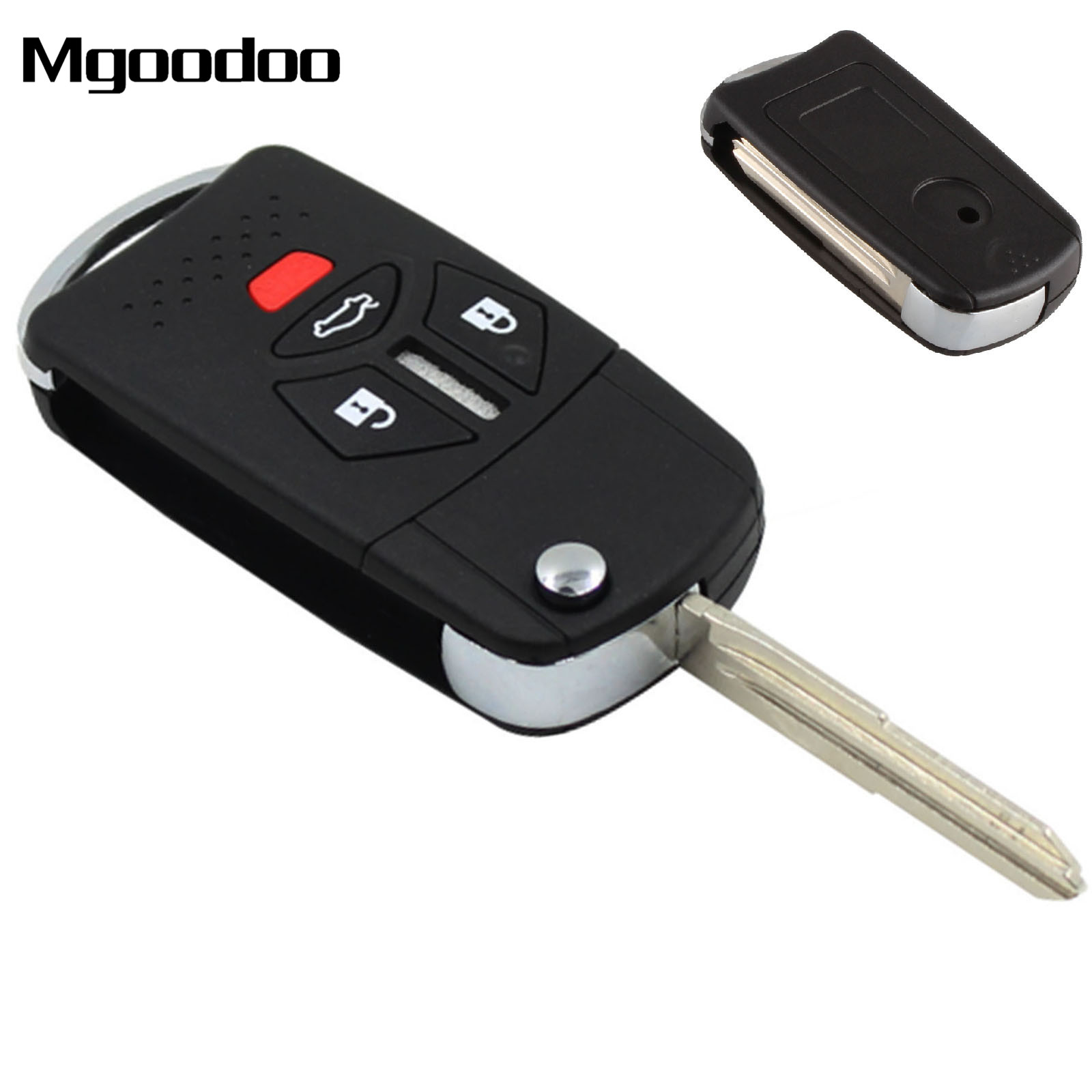 3+1 BTN Replacement Flip Folding Fob Keyless Remote Key Shell Case Cover For Mitsubishi Galant Eclipse Lancer Endeavor Outlander