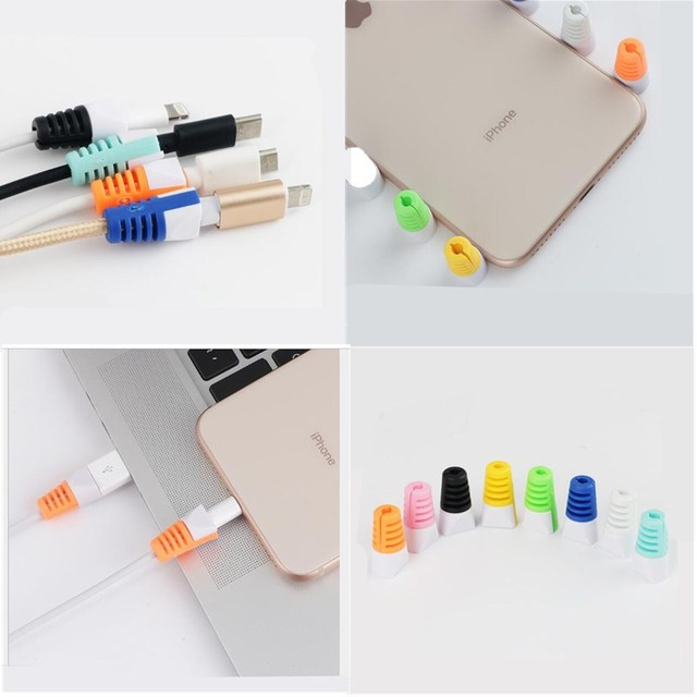Candy Color USB Data Line Protector Charging Safe Protection for iphone 6  6s 7 8 plus X Xs Max 5 5S SE Cable Winder Organizer 30e6890da8