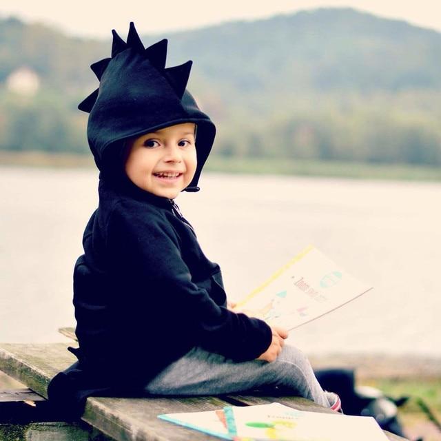 Kids baby Jongens Meisjes Dinosaurus Hoodies Sweatshirt Winter Rits Jas Bovenkleding