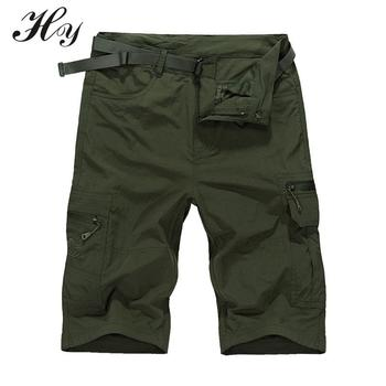 Breathable Short Quick Dry Cargo Shorts Thin Knee Pantalon Treking Military Camping Tactical Shorts Trousers Plus Size Trousers