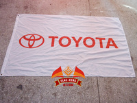 Toyota Car Brand Flag Flag King Japan Mini Car Banner Free Shipping 90X150CM Size Polyester