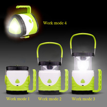 Multifunction LED Portable Lantern Torches LED Flashlight Novelty Light Zoom Colorful Hiking Camping Emergency Outdoor Light