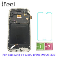 5.0'' S4 LCD for SAMSUNG Galaxy S4 GT i9505 i9500 i9505 i9506 i9515 i337 LCD Display + Touch Screen with Frame Digitizer