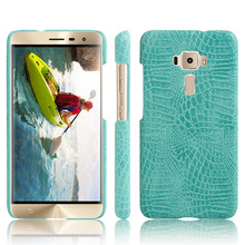 For Asus ZenFone 3 ZE552KL ZE520KL Case Heyqie 3D Crocodile Skin PU Leather Phone Cover Case For Asus ZenFone 3 Deluxe ZS570KL цена
