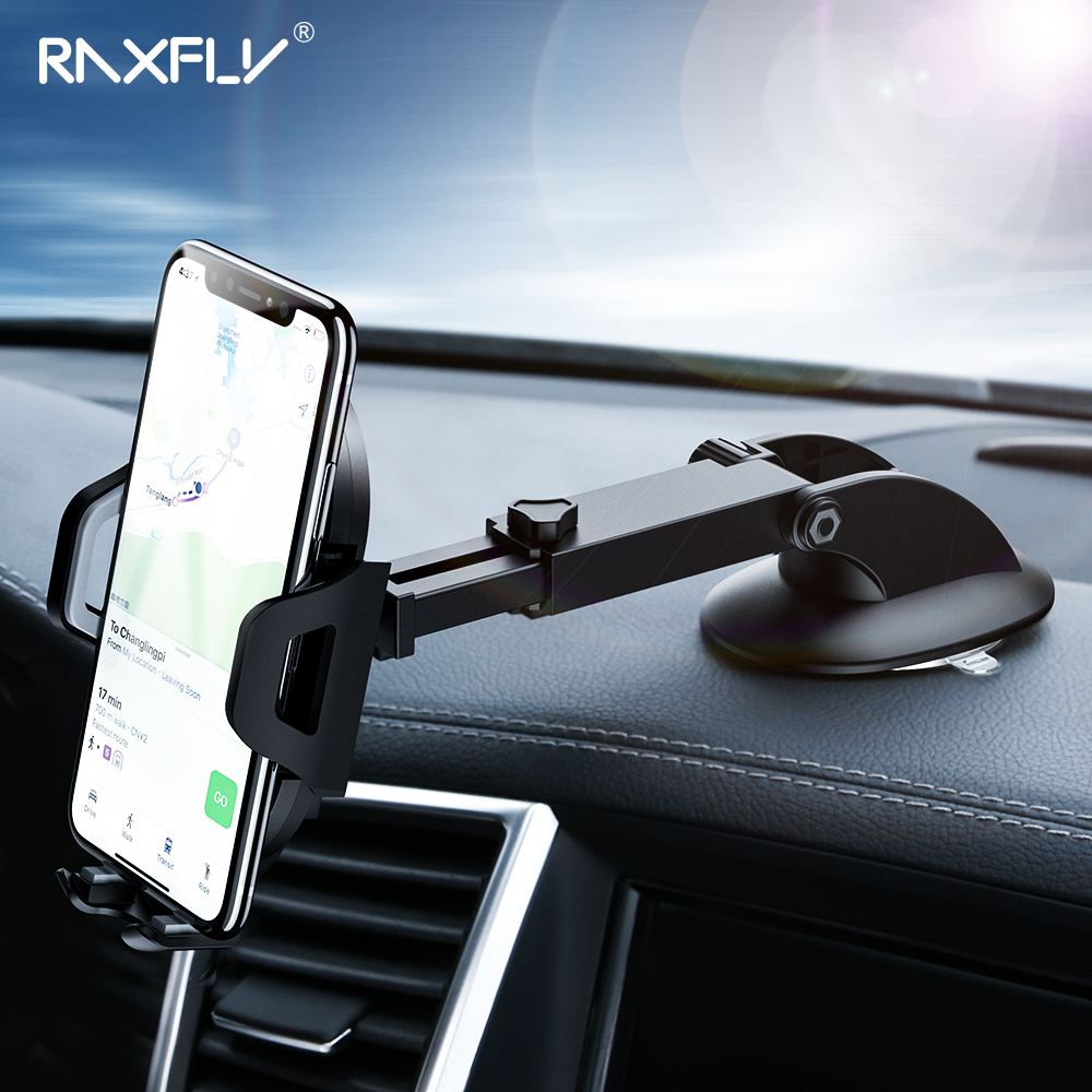 RAXFLY Car Phone Holder For iPhone XS Max XR 7 8 6 Air Vent Mount in Stand Samsung S10 S10E