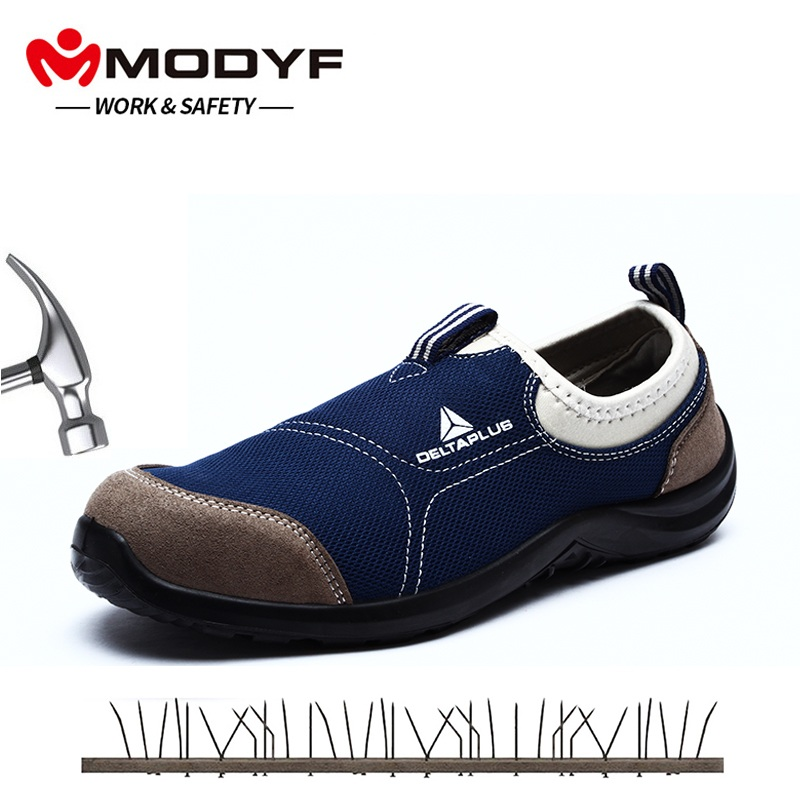 MODYF Mens Steel Toe Safety Work Shoes For Men Lightweight Breathable Anti-Smashing Non-Slip Anti-static Protective Shoes