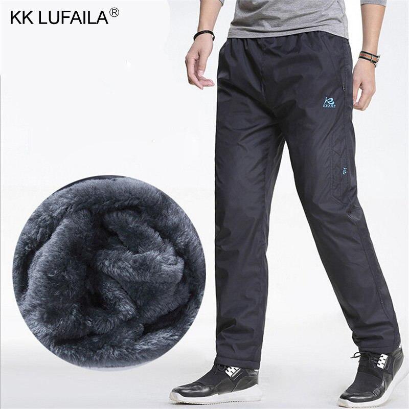 Мужские зимние супертеплые флисовые брюки, уличные теплые водонепроницаемые брюки на молнии, спортивные штаны, Джоггеры для мужчин 3XL