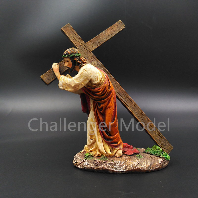 Christ Back Cross Passion Sunday <font><b>Jesus</b></font> Good Friday The Passion DIY Doll Animiation <font><b>Action</b></font> <font><b>Figure</b></font> Kids Toys Gift Model ornaments