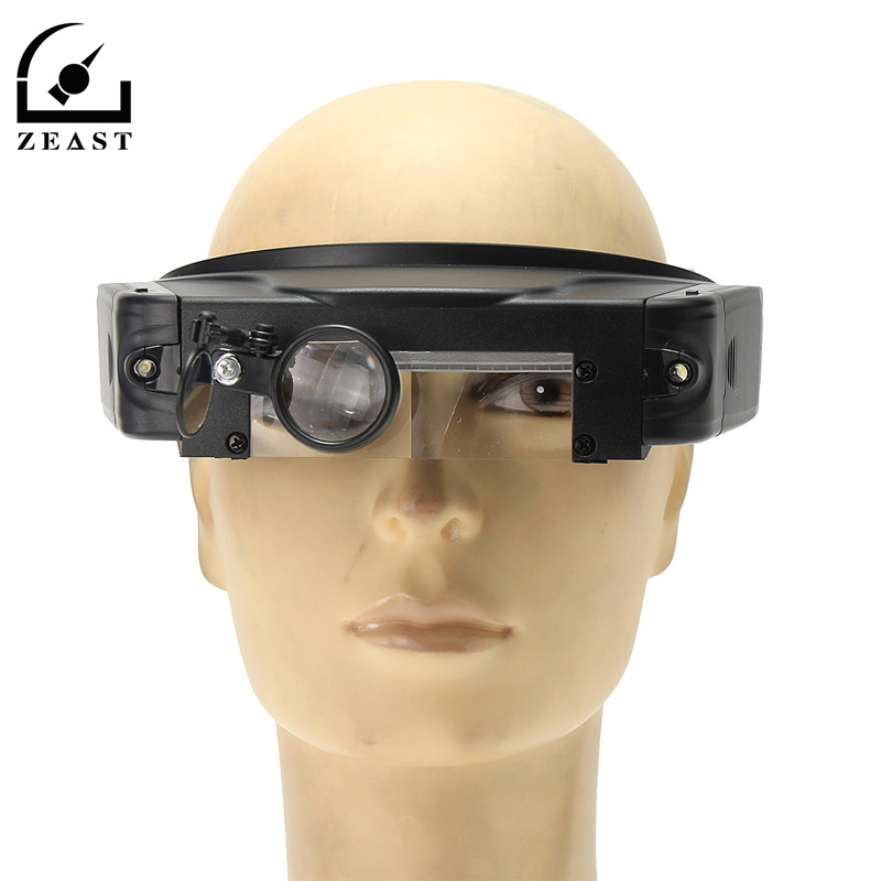 1.5x 3x 9.5x 11x Head-wearing Repairing Magnifier Headband Lens Loupe Magnifying Glass With LED Light
