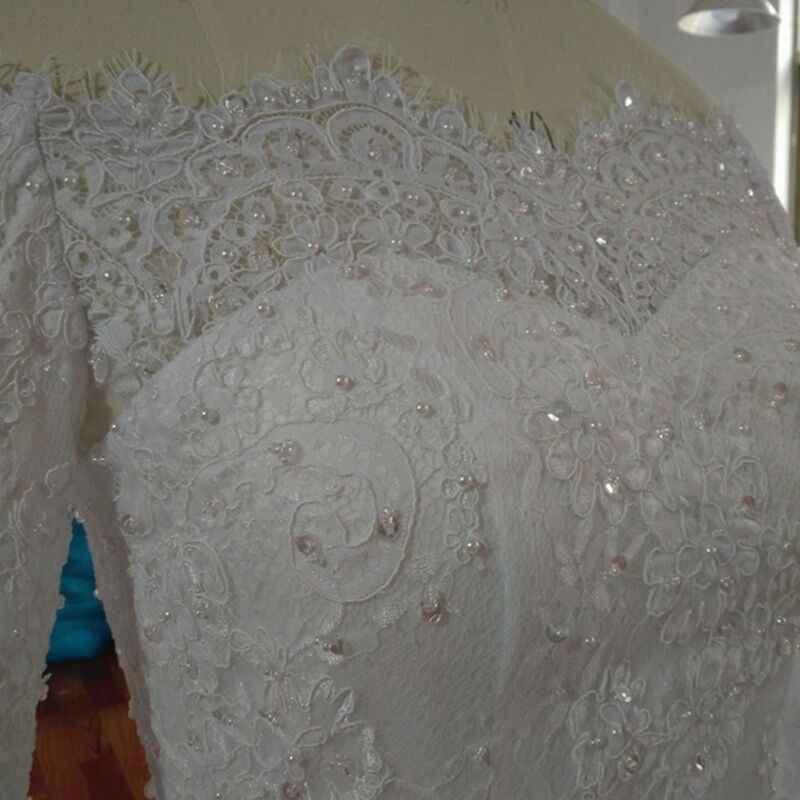2019 אופנה וינטג 'תחרה עד חתונת שמלת מחוך לב עם חרוז וריינסטון כדור שמלת Vestido דה Noiva