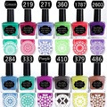 BORN PRETTY 1 Bottle 15ml Colorful Stamping Polish Manicure Nail Art Plate Printing Polish for Stamping Nail 18 Colors Available