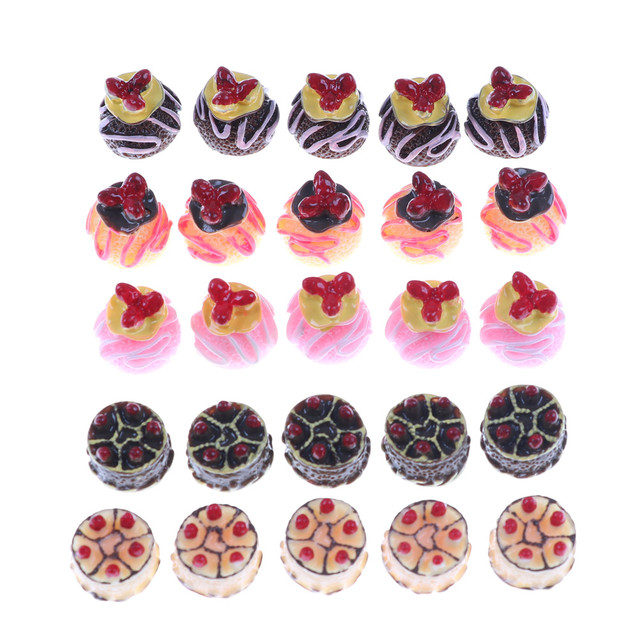 resin 3d strawberry chocolate cake cabochon miniature food art supply decoration charm craft fake kitchen toys - Strawberry Kitchen Decoration