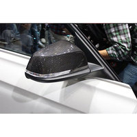 Carbon Fiber Rear View Mirror Cover Caps Fit for BMW 1 2 3 4 X Series F20 F21 F22 F23 F30 F31 F32 F33 F36 X1 E84 12-17