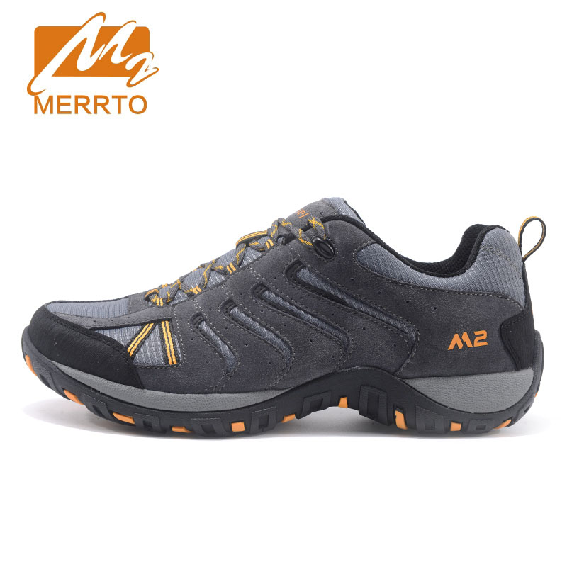 MERRTO Mens Hiking Shoes Outdoor Suede Leather Winter Boots Trekking Shoes Breathable Walking Sneakers Men Sports Sneakers 2017 new mens hiking shoes black blue walking shoes men autumn winter outdoor sport sneakers high top leather trekking shoes men