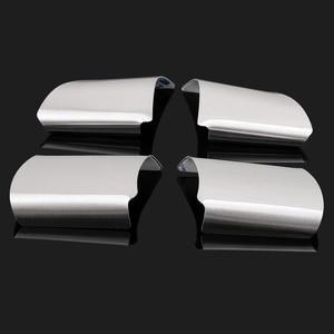 Image 2 - 4 قطعة/المجموعة الفولاذ المقاوم للصدأ عجلة القيادة غطاء الديكور تقليم ملصقا لفورد التركيز 2 MK2 2005   2011 سيارة ملصقا اكسسوارات