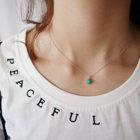 2019 New Fashion Women Necklace Real 925 Silver Turquoise Pendnat Necklace For Women Elegant Fine Jewelry Wedding Gift